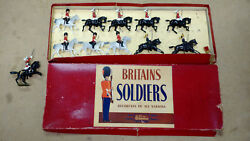 Old Britains 1950s Lead, Life Guards And 4th Hussars Partial W/ 4 Extra Horses