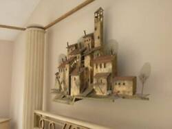 Curtis Jere Brass Wall Sculpture Titled Wash Day In Capri Artisian House Work