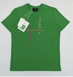 Chanel Green x Pharrell Capsule Collection Sleeve Crystal Rare M Tee Shirt