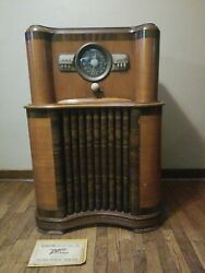 1939 Zenith Console Radio 5808 With 8-s-463 Chassis And Instructions Working
