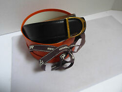 Authentic Reversible Hermes Belt Paris Black And Tan Leather Brass Buckle And Box