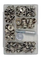 Canvas And Upholstery Boat Cover Snap Button Fastener Kit W/installation Tool...