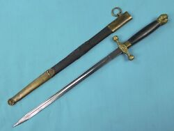 German Germany Solingen Ww1 Antique Cadetand039s Dagger Fighting Knife Scabbard