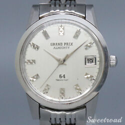 Orient Grand Prix 64 Almighty Automatic 1965 Menand039s Watch From Japan [b0618]
