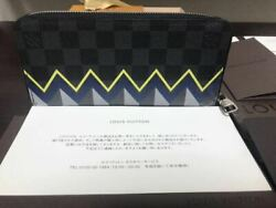 LOUIS VUITTON wallet Damier Graphite Vertical 2014 Limited Design Used Authentic