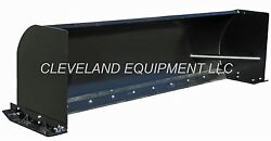 New 96 Snow Pusher Attachment Skid Steer Loader Bobcat Box Push Plow Blade 8and039