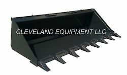 New 66 Tooth Bucket Low Profile Skid Steer Loader Attachment Teeth Komatsu Ford