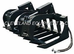 New 60 Root Grapple Attachment Skid Steer Loader Bucket Rake Tine Rod Bobcat 5and039