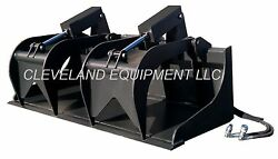 New 84 Hd Grapple Bucket Attachment For Fits Bobcat Skid Steer Track Loader 7'