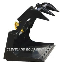 New 42 Mini Grapple Bucket Attachment Ditch Witch Mini Skid Steer Track Loader