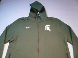 Nike Michigan State Spartans Showtime 2xl Brand New Hoodie Zip Up Jacket Msu Nwt