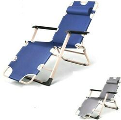 Folding Bed Sleeping Lunch Break Home Office Fishing Chair Metal Couch Chairs