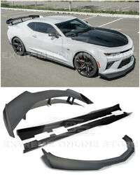 For 16-up Camaro Ss | Zl1 1le Style Front Lip Splitter Side Skirts Rear Spoiler