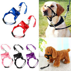 Pet Dog Muzzle Halti Style Head Collar Stops Puppy Pulling Halter Training Reign