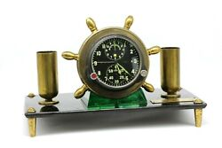 Soviet 70s Airforce Cockpit Clock Acs-1/achs-1 For Su/mig Jets In Custom Case