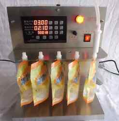 Stainless Steel Temperature Stand-up Pouches Soy Milk Filling Machine 220v T