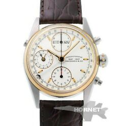 Everhard And Co Chronographe Automatic 32012b Ss/yg Menand039s Watch From Japan [b0630]