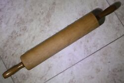 Old Vintage Large Wooden Rolling Pin Pro Kitchen Cake Baking 60cm Collectible