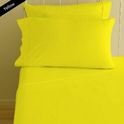 Complete Bedding Set Yellow Solid Choose Sizes 600 Tc Egyptian Cotton
