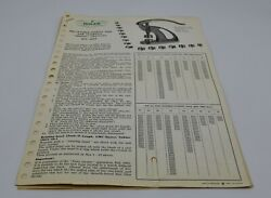 Genuine Rolex Vintage Staking Tool 1002 Information Sheets And Charts 1957