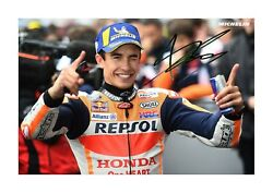 Marc Marquez A4 Signed Mounted Photograph Picture Poster. Choice Of Frame.