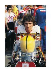 Joey Dunlop 2 A4 Signed Mounted Photograph Picture Poster With Choice Of Frame.