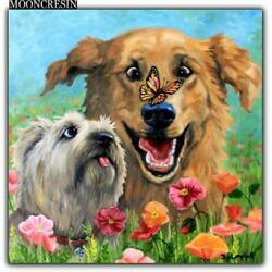 5D Diamond Painting Two Dogs and a Butterfly Kit