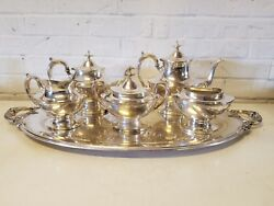 Vintage Reed And Barton Silver Plated Tea Set Epns With Stamped P Initial