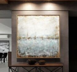 48 x 48 ORIGINAL LARGE TEXTURED ABSTRACT ART CONTEMPORARY PAINTING  ~ L. Beiboer