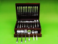 Heiress By Oneida Sterling Silver Flatware Service 85 Pieces Weight 3314 Grams.