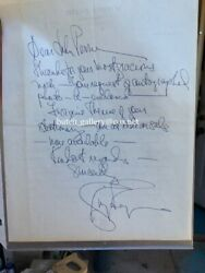 Ginger Rogers Hand Written Signed Autograph Letter 1960