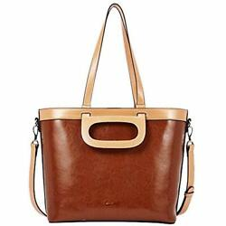 Women Shoulder Bags Purses Handbags Oil Wax Leather Designer Vintage 3 Ways Tote