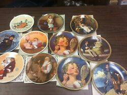 Knowles Norman Rockwell Collector Plates, Lot Of 11