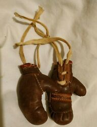 Vintage 1940's Miniature Boxing Gloves Hollywood Calif Extremely Rare