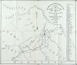 Ore Ranges In York And Adams Counties Pennsylvania Antique Map 1876