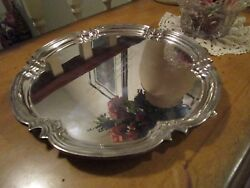 Antique Cooper Bros. Sheffield Silver Plate Footed Salver Tray 10 England
