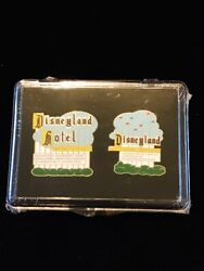 Disney Dlr Cast Exclusive Disneyland Marquee Pin And Hotel Sign Set Le Mib