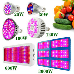 1-4pc 28W-3000W LED Grow Light Bulb Lamp Full Spectrum for Indoor Growing Plants
