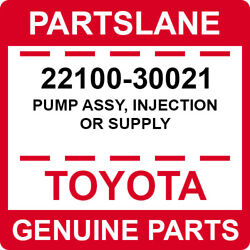22100-30021 Toyota Oem Genuine Pump Assy Injection Or Supply