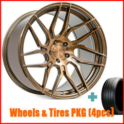 4/set 20 Staggered Rohana Rfx7 Brushed Bronze Wheels And Tires