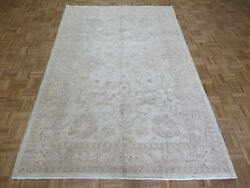 6 X 9and0392 Hand Knotted Soft Blue Fine Peshawar Oushak Oriental Rug G7373