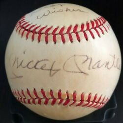 Mickey Mantle Best Wishes To Joe Signed Auto Psa/dna Baseball Autographed Ball