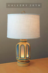 Rare Mid Century Modern And039light Houseand039 Table Lamp Vtg Blue 50and039s 60s Retro Light