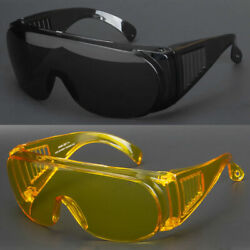 New Extra Large Fit Over Most Rx Glasses Sunglasses Safety Super Dark Lens Usa $8.68