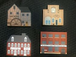 The Cats Meow Village 1988 Tradesman Series Vintage Painted Wooden Collectibles