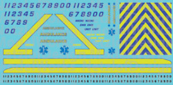 N Scale Generic Ambulance Decals - Yellow