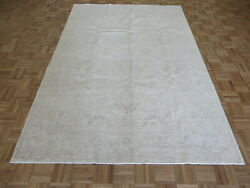 6 X 8and03911 Hand Knotted Washed Out Beige Fine Peshawar Oushak Oriental Rug G7440