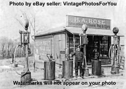 Old/vintage Sunoco Visible Pump Oil/gas Station Grocery/country Store Photo