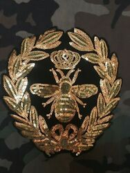 Vintage CAMOUFLAGE MILITARY CAMO Jacket SWAGG QUEEN BEE Decal Patch
