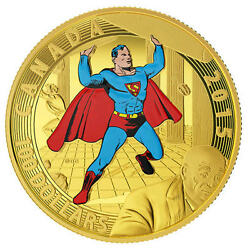 2015 Canada 100 Gold Coin Iconic Superman Covers 1940 Rcm